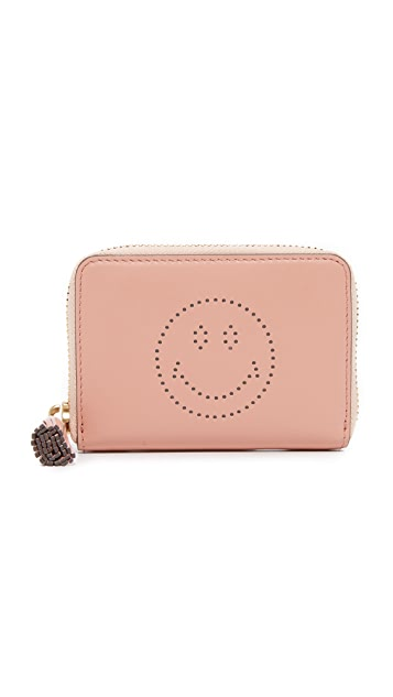 Anya Hindmarch Small Zip Round Wallet