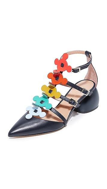 Anya Hindmarch Block Heel Caged Sandals