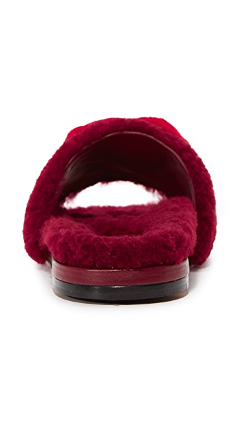 Anya Hindmarch Shearling Slides
