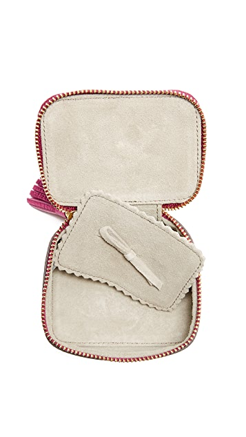 Anya Hindmarch Metallic Heart Pouch