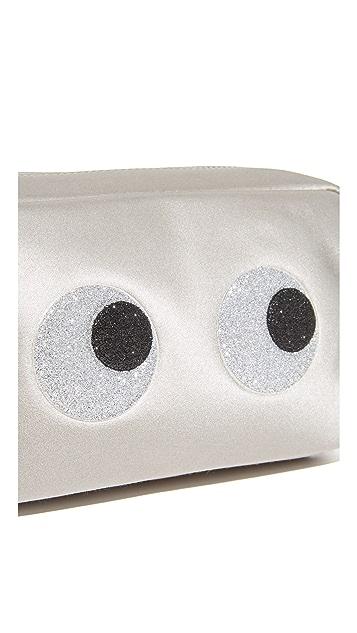 Anya Hindmarch Glitter Eyes Chain Clutch