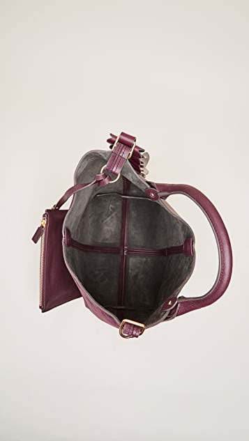 Anya Hindmarch Bucket Bag with Small Hearts