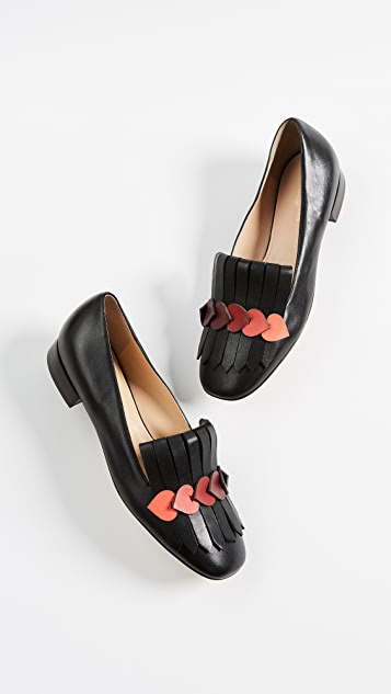 Anya Hindmarch Heart Link Loafers