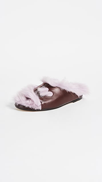 Anya Hindmarch Fuzzy Slippers
