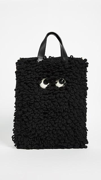 Anya Hindmarch Shag Eyes Shopper - Black