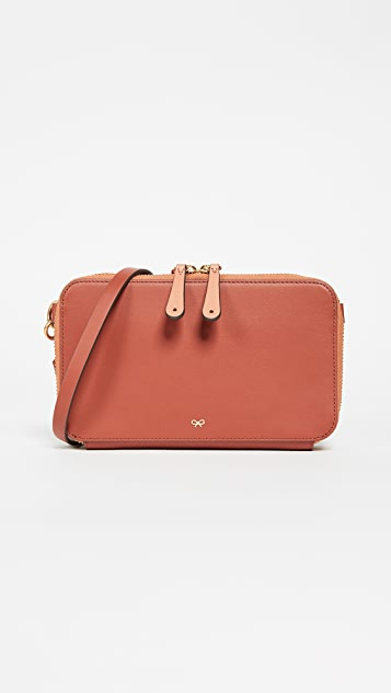 Anya Hindmarch Stack Cross Body Wallet - Hazelnut