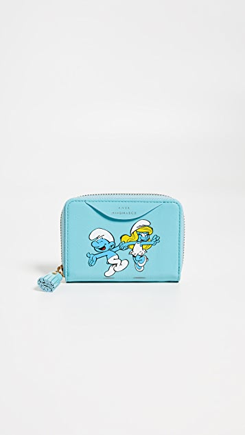 Anya Hindmarch Small Zip Round Wallet