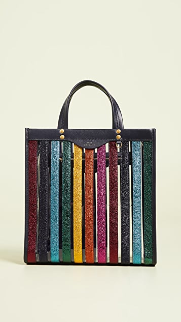 Multi Stripes Small Tote by Anya Hindmarch