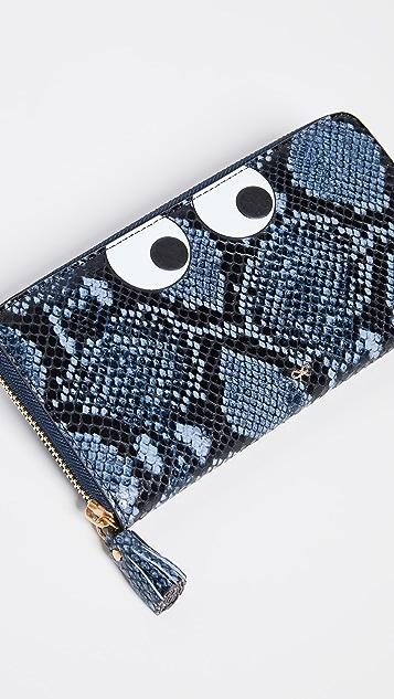 Anya Hindmarch Eyes Large Zip Around Wallet