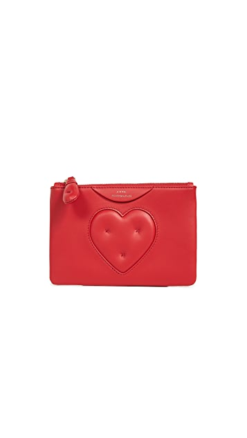 Anya Hindmarch Heart Chubby Loose Pocket Pouch
