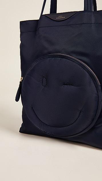 Anya Hindmarch Нейлоновая объемная сумка с короткими ручками Wink Chubby