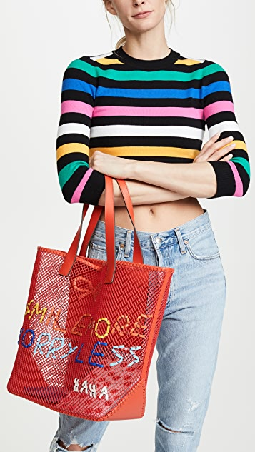 Anya Hindmarch Smile More Woven Tote