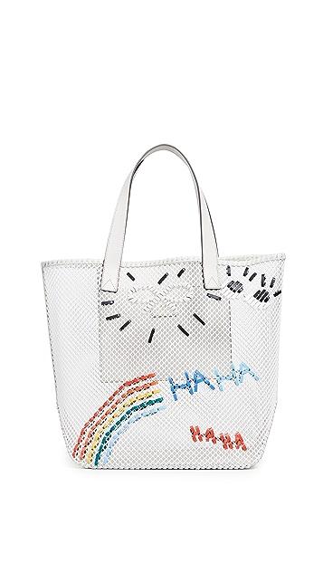 Anya Hindmarch Rainbow Weave Tote