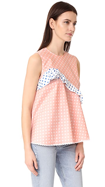 Anna October Sleeveless Polka Dot Top
