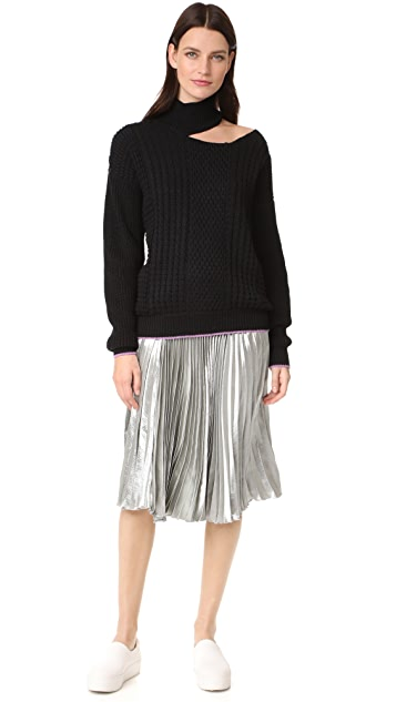 Anna October Cutout Long Sleeve Sweater