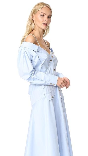 Anna October Off the Shoulder Shirtdress