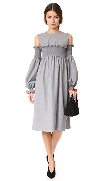 Anna October Puff Sleeve Gathered Dress
