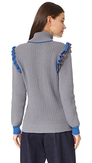 Anna October Ruffle Trim Knit