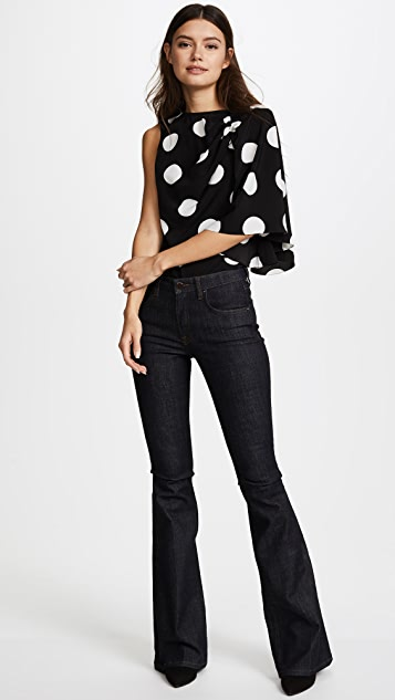 Anna October Blouse with One Flared Sleeve