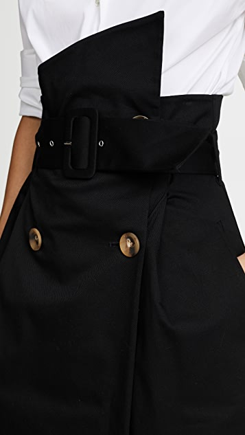 Anna October Black Cotton Skirt