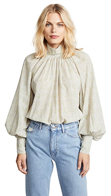 Anna October Balloon Sleeve Blouse