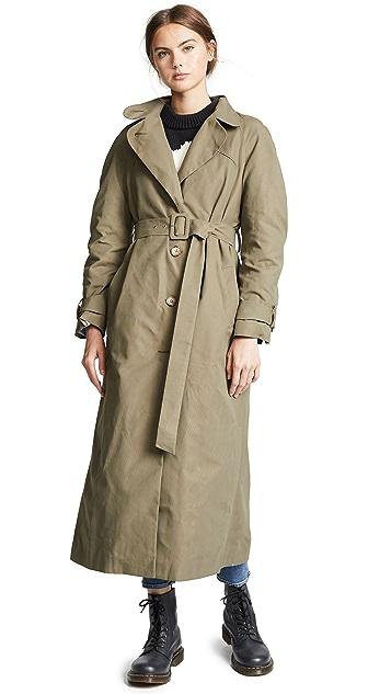 Anna October Tie Waist Trench Coat