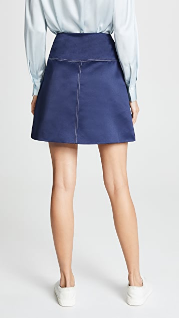 Anna October Contrast Stitch Tailored Skirt