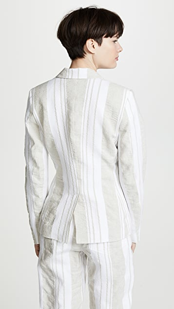 Anna October Soft Stripe Blazer