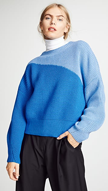 Anna October Wool Colorblock Sweater