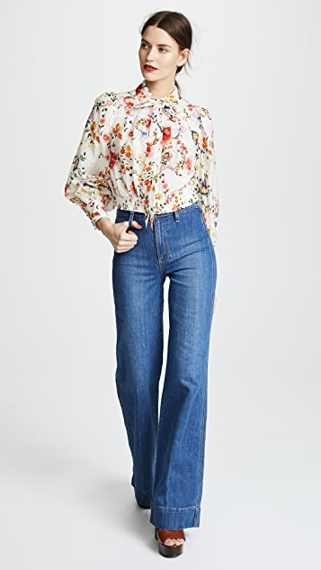 AO.LA by alice + olivia Gorgeous High Rise Jeans