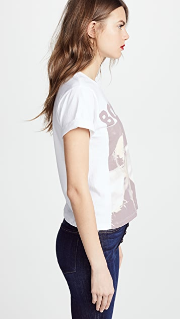 AO.LA by alice + olivia Shira Roll Sleeve Tee
