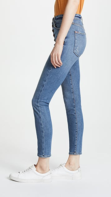 ALICE + OLIVIA JEANS High Rise Button Fly Jeans