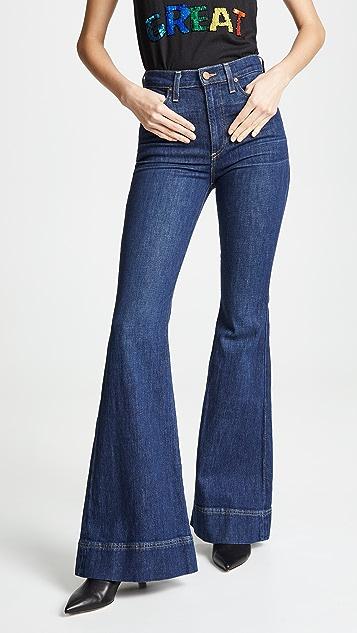 ALICE + OLIVIA JEANS Расклешенные джинсы Beautiful с высокой посадкой