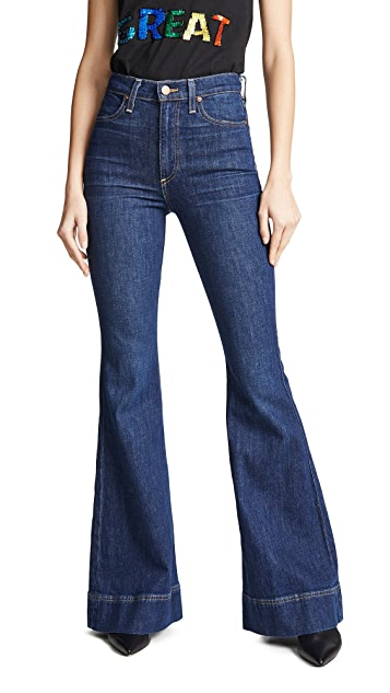 ALICE + OLIVIA JEANS Beautiful High Rise Bell Jeans