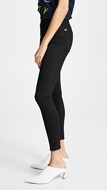 0025657e ... ALICE + OLIVIA JEANS Good HR Ankle Skinny Jeans with Exposed Zipper ...