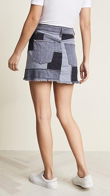 ALICE + OLIVIA JEANS Amazing Patchwork Skirt