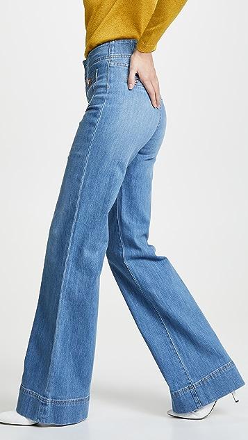 ALICE + OLIVIA JEANS Широкие джинсы Gorgeous