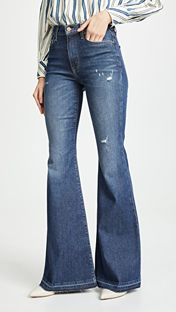 ALICE + OLIVIA JEANS Beautiful High Rise Bell Bottom Jeans