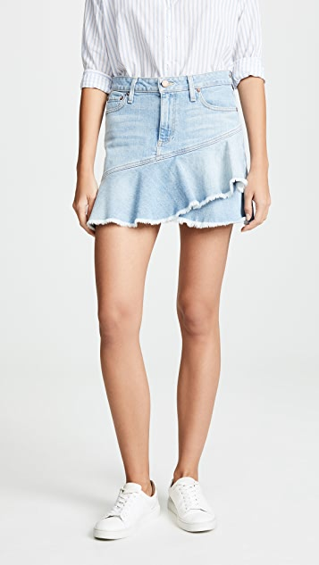 Mini Flounce Ruffle Skirt by Alice + Olivia Jeans