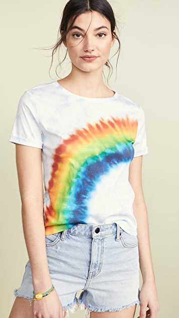 ALICE + OLIVIA JEANS Shira Roll Sleeve Tee