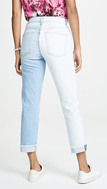 ALICE + OLIVIA JEANS Amazing Asymm Slim Straight Jeans
