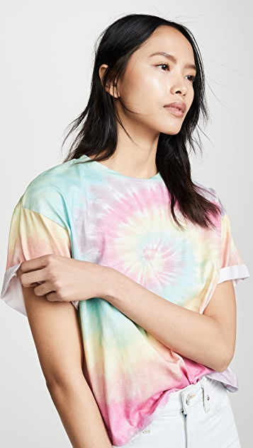 ALICE + OLIVIA JEANS Evan Oversized Roll Sleeve Tee