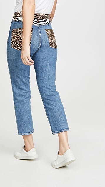 ALICE + OLIVIA JEANS Amazing High Rise Girlfriend Jeans