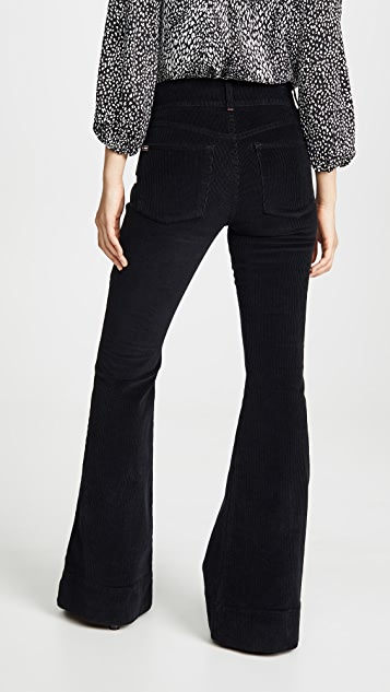 ALICE + OLIVIA JEANS Beautiful Exposed Button Bell Jeans