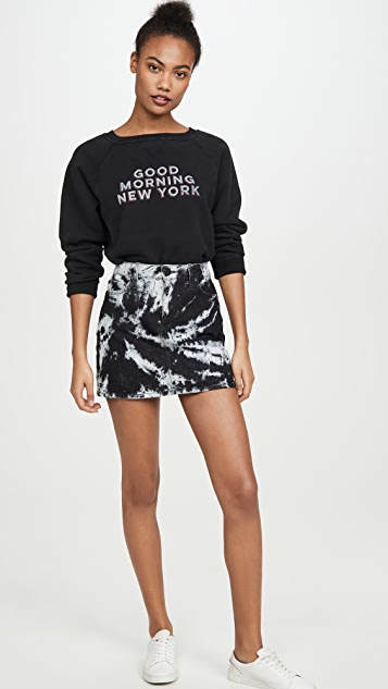 ALICE + OLIVIA JEANS Good High Rise Miniskirt