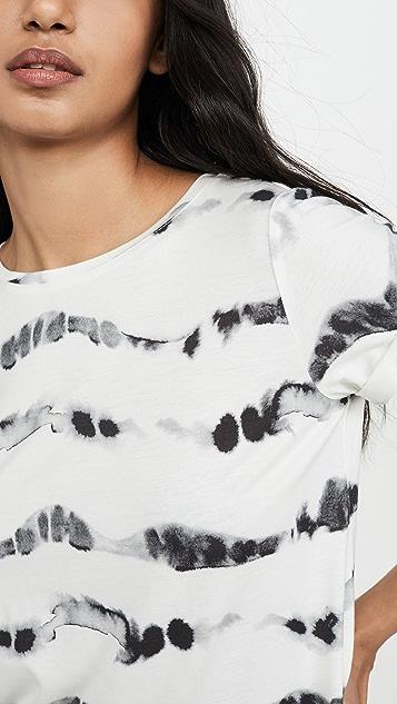 ALICE + OLIVIA JEANS Shira 卷边衣袖 T 恤