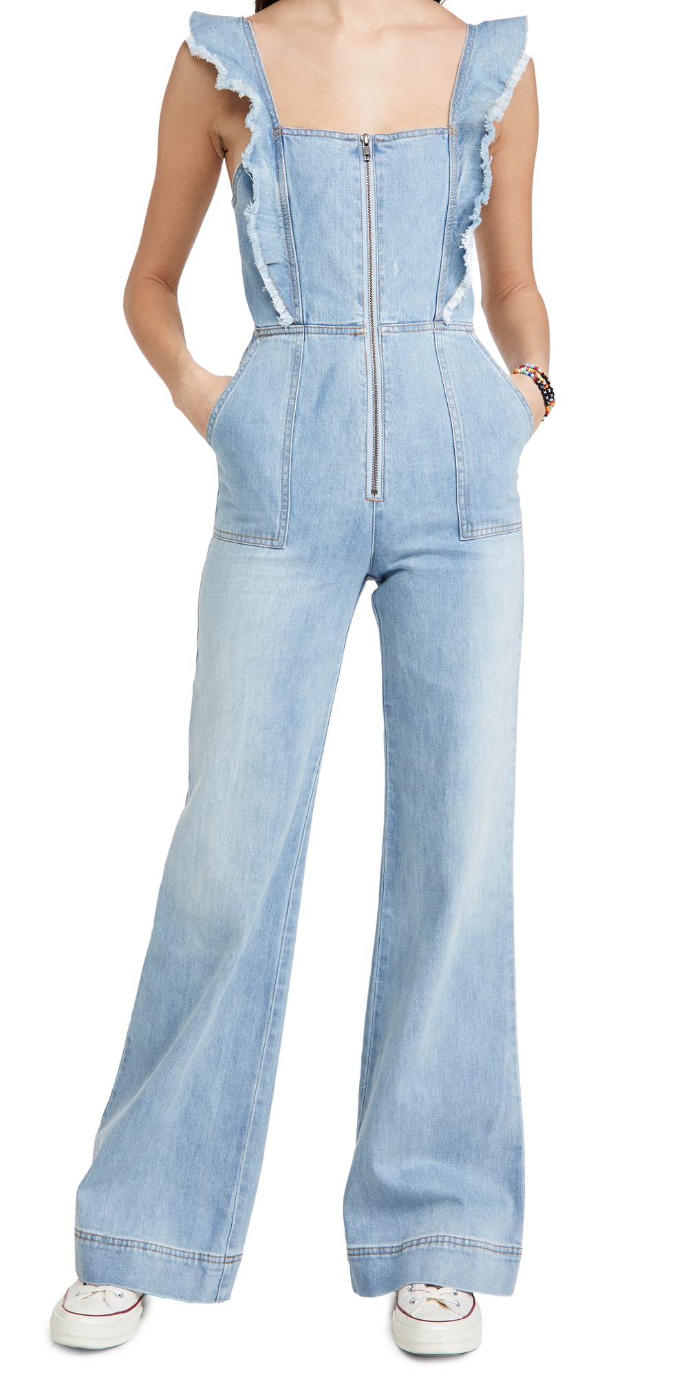 ALICE + OLIVIA JEANS Gorgeous Open Back Jumpsuit