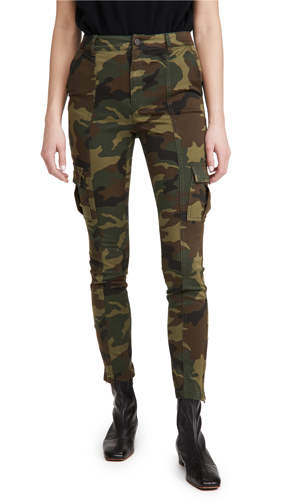 ALICE + OLIVIA JEANS Keith Slim Fit Cargo Pants