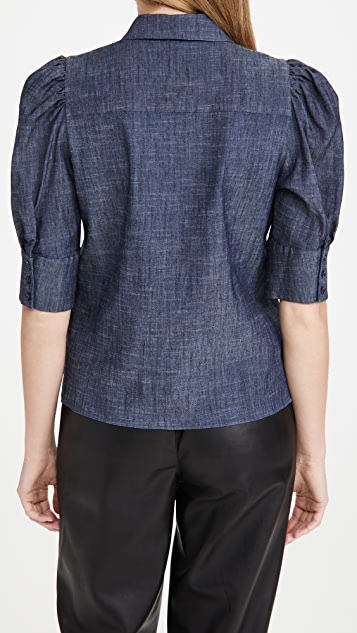 ALICE + OLIVIA JEANS Willa Puff Sleeve Top
