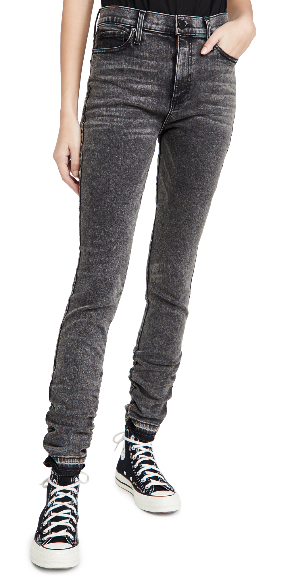 ALICE + OLIVIA JEANS Good Stacked Skinny Jeans